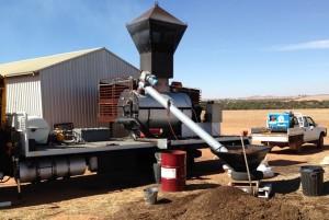 Biochar Kiln Processing Poultry Waste
