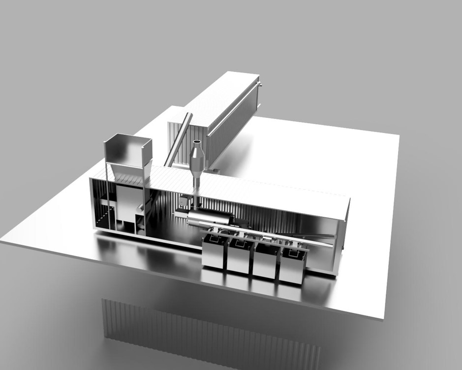 3D model of pyrolysis plant