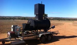 Biochar kiln in paddock