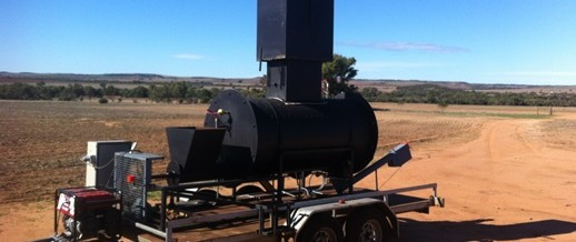 Energy Farmers Australia builds WA's first mobile biochar kiln